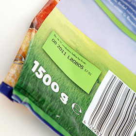 tto print with barcode on foil