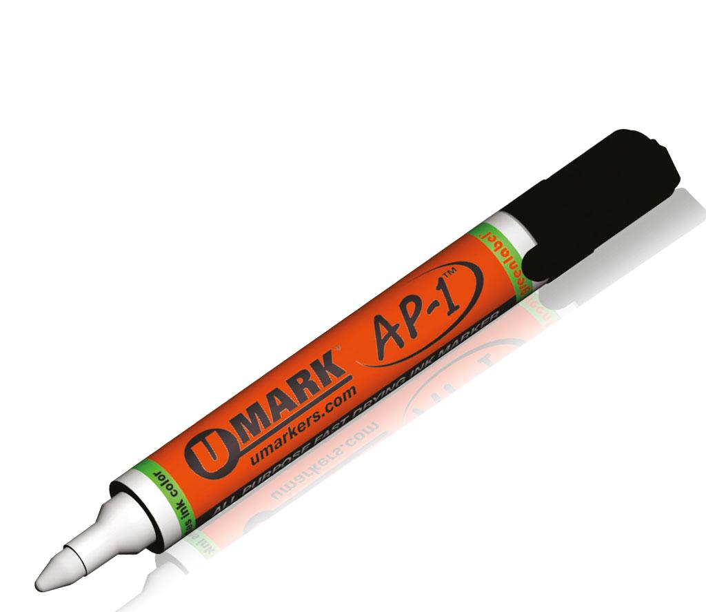U Mark AP-1  – Der universelle Lackmarker. Sie können auf einfachste Art und Weise alle Arten von Werkstoffen kennzeichnen. Von Kortho Kennzeichnungssysteme - Paderborn - Deutschland
